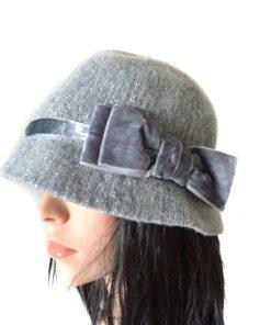 AUGUST HAT | כובע אפור פפיון אוגוסט הט