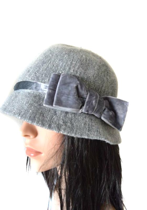 AUGUST HAT   כובע אפור פפיון אוגוסט הט