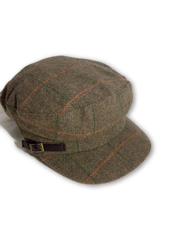 AUGUST HAT   כובע קסקט משבצות חום אוגוסט הט