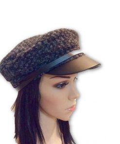 AUGUST HAT   כובע מצחייה שחור/אפור אוגוסט הט