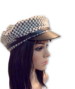 AUGUST HAT   כובע מצחייה אופוויט/שחור אוגוסט הט