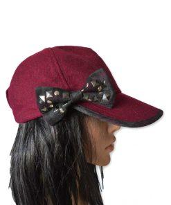 AUGUST HAT   כובע קסקט בורדו פפיון אוגוסט הט