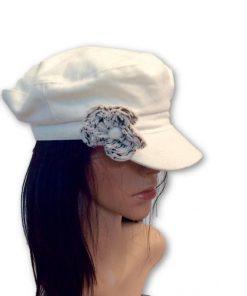 AUGUST HAT   כובע אופוויט פרח לבן אוגוסט הט