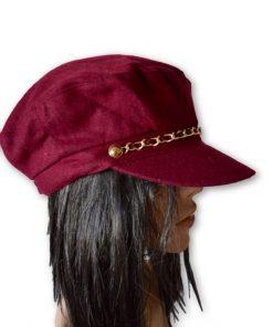 AUGUST HAT   כובע בורדו שרשרת אוגוסט הט