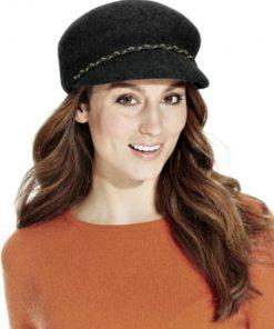 NINE WEST | כובע שחור צמה ניין ווסט