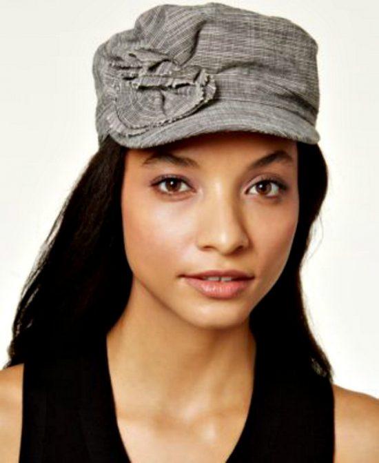 COLLECTION   כובע קסקט אפור פרחים קולקשיין