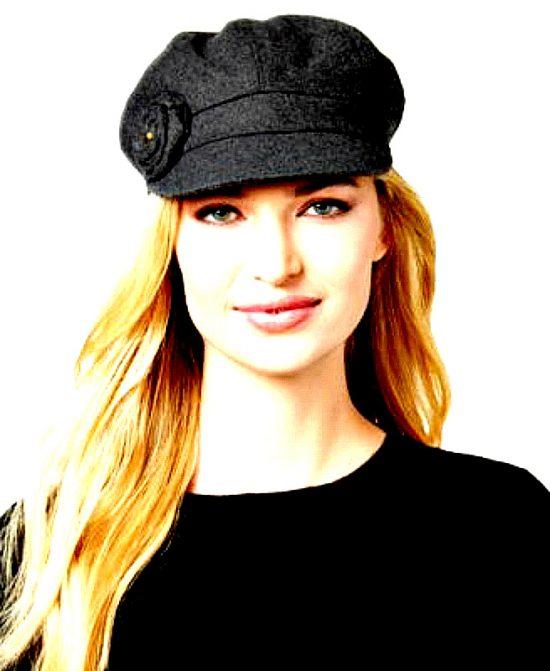 AUGUST HAT   כובע קסקט שחור ורד אוגוסט הט