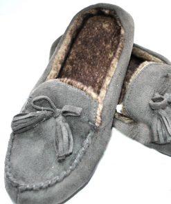 Isotoner | נעלי בית אפורות איזוטונר