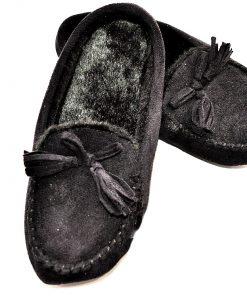 Isotoner | נעלי בית שחורות איזוטונר