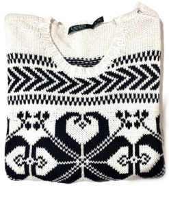 Ralph Lauren | סוודר לבן ראלף לורן