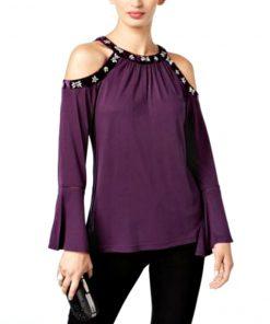 INC | חולצה אופנתית סגולה איאנסי