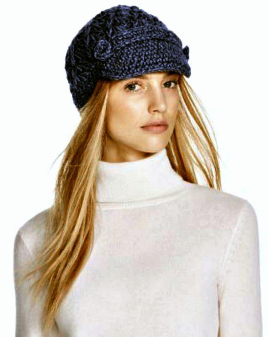 Aqua | כובע סרוג כחול אקווה