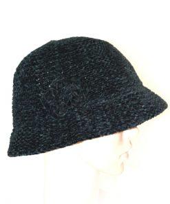 AUGUST HAT   כובע שניל פרח שחור אוגוסט הט