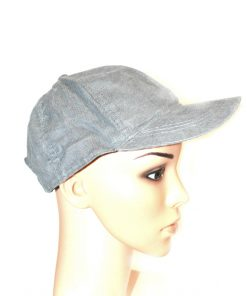 AUGUST HAT   כובע מצחייה קורדרוי אפורה אוגוסט הט