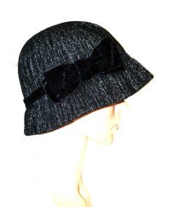 AUGUST HAT | כובע שחור פפיון אוגוסט הט