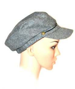 AUGUST HAT   כובע מצחייה אפורה אוגוסט הט