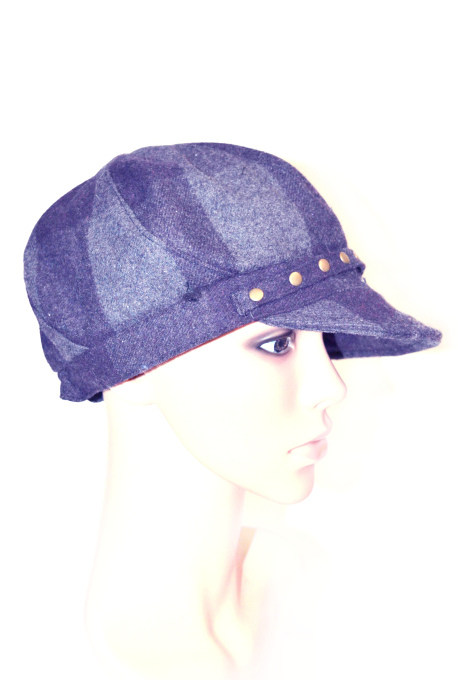 AUGUST HAT | כובע מצחייה משבצות סגול אוגוסט הט