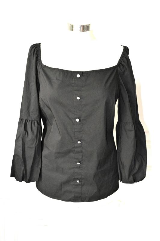 INC   חולצת סטרפלס שחורה איאנסי