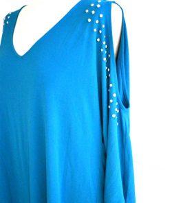 INC | חולצת ניטים טורקיז איאנסי