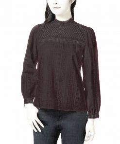Kensie | חולצת כותנה שחורה קנסי
