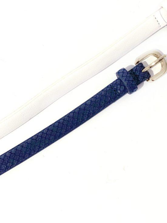 INC | סט 2 חגורות כחול/לבן אייאנסי