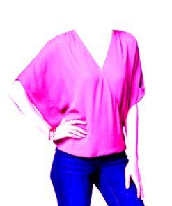 INC | חולצת אוברסיז ורודה איאנסי