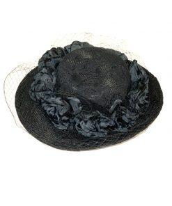 AUGUST HAT | כובע שחור אלגנס אוגוסט הט