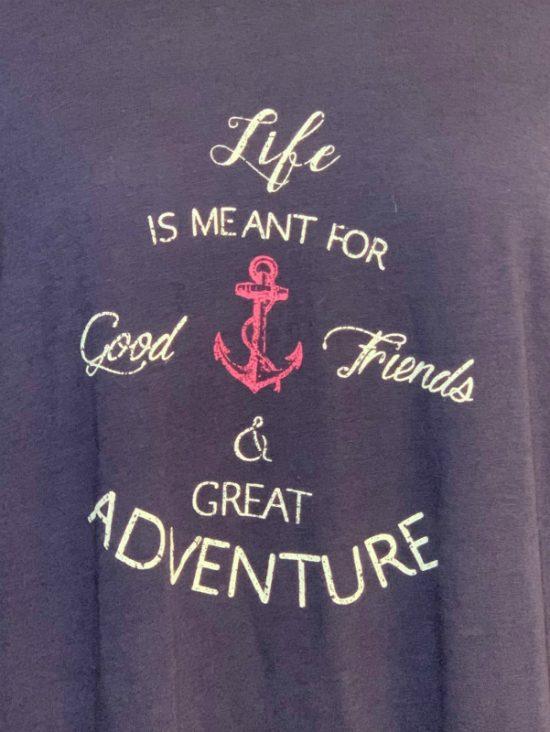 Nautica | חולצת כחולה אוברסייז נאוטיקה