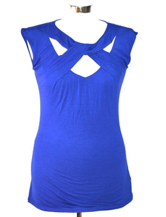 INC   חולצה כחולה טרנדית איאנסי