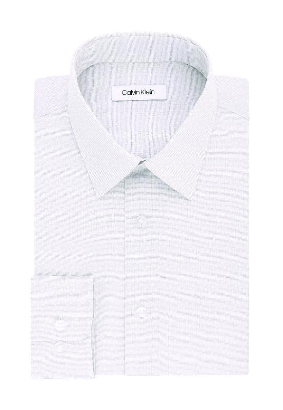 Calvin Klein | חולצה מכופתרת אפור דוגמה קלווין קליין