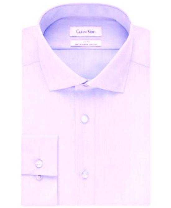 Calvin Klein   חולצה מכופתרת סגול בהיר קלווין קליין