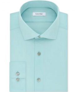 Calvin Klein | חולצה אלגנטית ירוק בהיר קלווין קליין