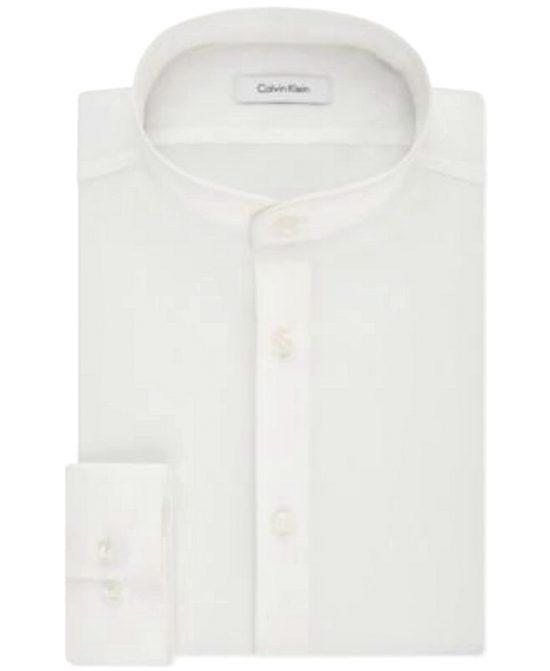 Calvin Klein   חולצה לבנה צווארון סיני קלווין קליין