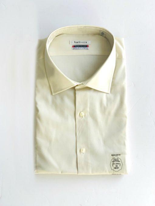 Van Heusen   חולצה מכופתרת בז׳ ואן האוזן