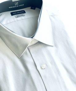 Van Heusen   חולצה מכופתרת לבן/אפור ואן האוזן