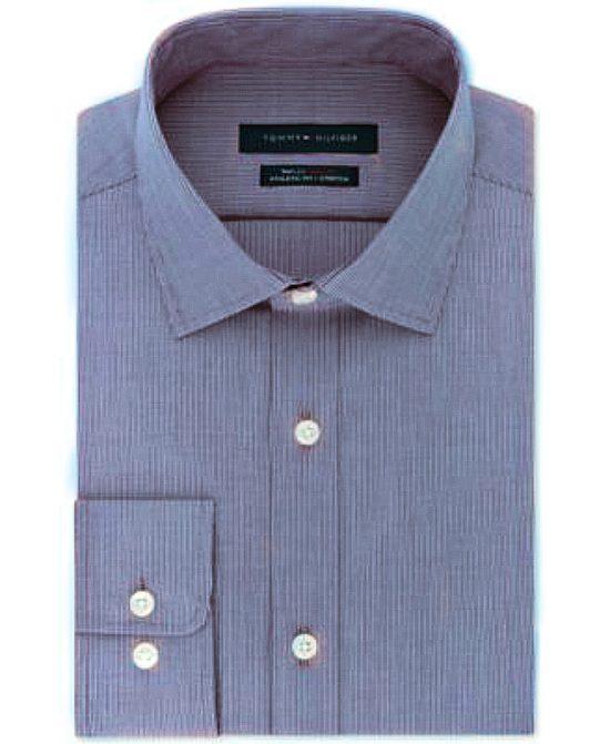 Tommy Hilfiger | חולצת פס דק כחול לבן טומי הילפיגר
