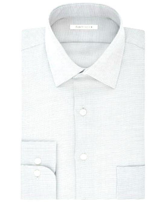 Van Heusen | חולצה מכופתרת לבן/אפור ואן האוזן