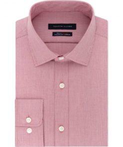 Tommy Hilfiger | חולצת פס דק בורדו לבן טומי הילפיגר