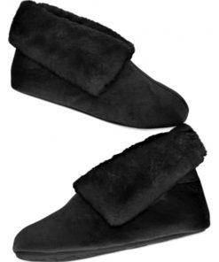 Charter Club | נעלי בית פרווה שחורות צ׳רטר קלאב