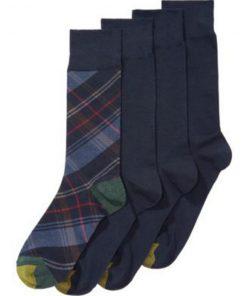 GoldToe | מארז 4 זוגות גרביים כחול גולדטוי