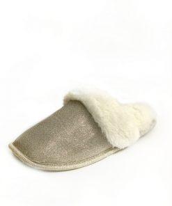 INC | נעלי בית פיישן זהב אייאנסי