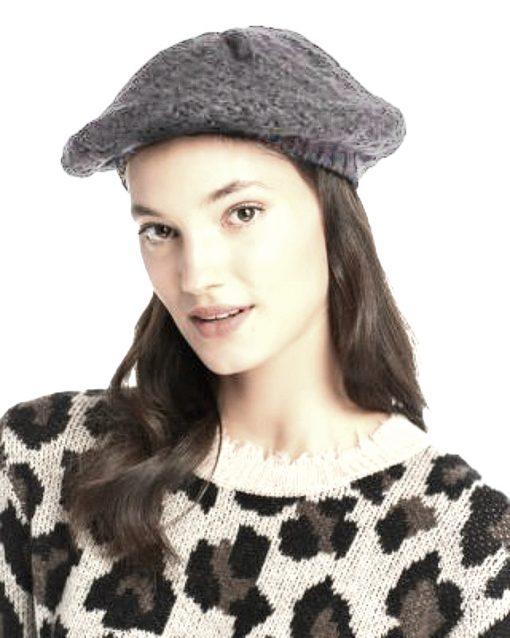Aqua   כובע ברט אפור אקווה