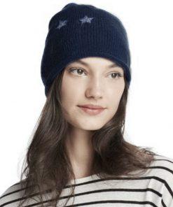 Aqua | כובע שחור ניטים כוכב אקווה