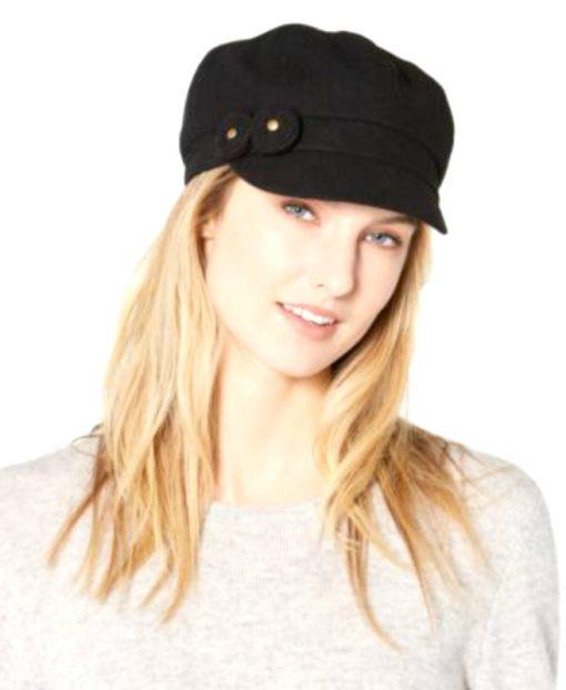 August Hat | כובע קסקט שחור שני פרחים אוגוסט הט