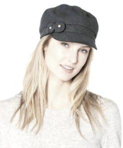 August Hat | כובע קסקט אפור שני פרחים אוגוסט הט