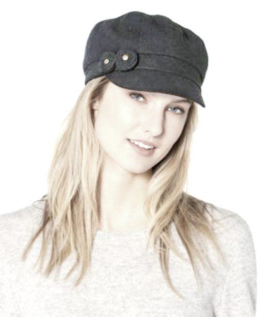 August Hat   כובע קסקט אפור שני פרחים אוגוסט הט