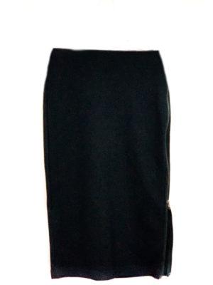 Kind of| חצאית רוכסן שחורה קינד אוף