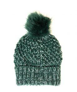 Steve Madden | כובע פונפון ירוק סטיב מאדן