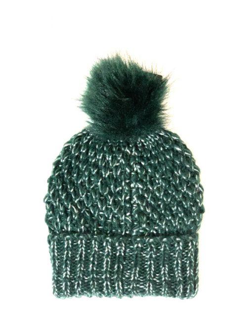 Steve Madden   כובע פונפון ירוק סטיב מאדן