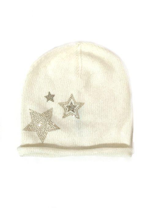 Aqua | כובע לבן ניטים כוכב אקווה